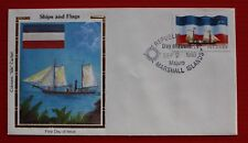 "Clearance - Marshall Islands (194) 1988 Ships & Flags Colorano ""Silk"" FDC"