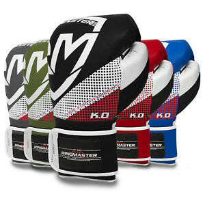 RingMaster Sports Pro Boxing Gloves Training Sparring Bag Mitts MMA Punch Fight