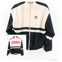 Adidas Originals Womens Track Jacket Size 32 or XS Black Pink Pakaian Adidas