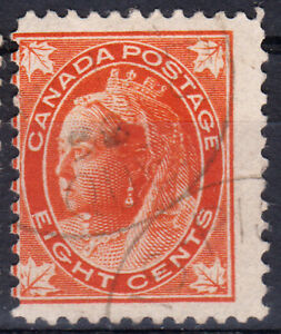 Canada-1897-QV-8 c. first issue,canceled