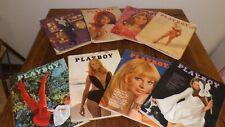 1968 Playboy Lot of 10 magazines Good Conditon