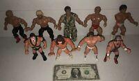 9 Action Figure Lot! AWA Remco WWF Hasbro WCW Galoob! WWE Wrestling Toys Vintage