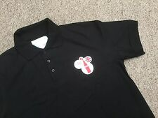 "COKE COCA COLA OLYMPICS POLO SHIRT BLACK ECO MADE FROM RECYCLED BOTTLES XL (48"")"