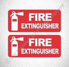 Fire Extinguisher Sticker Set Vinyl Decal Label Car Truck SUV Safety Sticker JDM