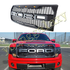 For 2009-2014 Ford F150 Front Grill Raptor Style Conversion Gray F&R Letter LED