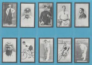 F & J Smith Cigarette Cards - CHAMPIONS OF SPORT - Full mint set