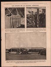 WWI Aircraft Chasseur Bombardier Torpilles Général Jacques War 1915 ILLUSTRATION