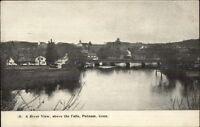 Putnam CT River View Above Falls c1905 Postcard