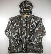 Vintage 10X Trebark Camo Camouflage Jacket Coat Men's XL w/ Hood USA Made GUC