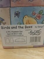 Birds and the Bees by Sango 4 Pc Hostess Set Item # 0617-159