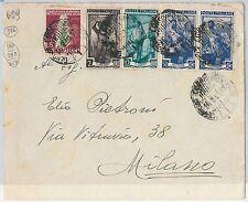 47438 - ITALIA REPUBBLICA - Storia Postale: LAVORO + TABACCO su BUSTA 1951