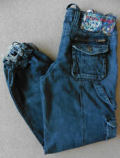 Women's River Island Slouch Elasticated Jeans Size 8S (Eur 34S) W26 L30 Blue