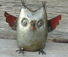 Repurposed Scrap Metal Owl, Small, 6.5
