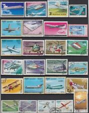 Plane Aircraft Postage Stamps All Different 50pcs Unused Post Marks Stampels
