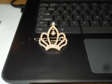 Woman's Ladies crown headband/ broach 4 cms wide from China. posted in UK New