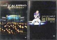 """GIGI D'ALESSIO - 2 DVD """" BUONA VITA / CUORINCORO """" ANNA TATANGELO  LEE RYAN"""