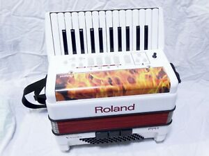 Roland FR-1 V-Accordion electronic accordion rechargeable batteries power supply