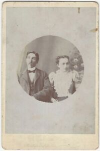 Angry or Cross Looking Man & Woman Emotional Victorian Portrait Cabinet Card