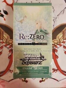 """Re:ZERO -The Frozen Bond"" 6 Pack Extra Booster Box Weiss Schwarz English Sealed"