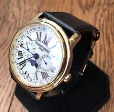 Men's Genuine Frederique Constant Triple Date Moonphase Gold Roman 270X4P4/5/6