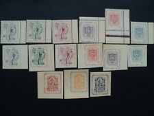 LITHUANIA, LITAUEN -- 15 stamps of Displaced persons camps 1946 MNH