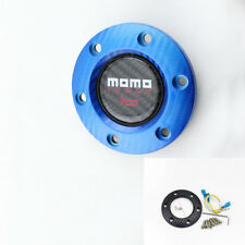 Car blue fashion steering wheel horn button durable easy install plastic cover