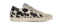 Pre-Owned P448 John Cow Leopard Brown White Gray Black Low Top Sneakers Shoes 41