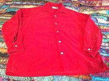 Red PINWHALE Corduroy top/shirt Sm/Med Cotton lg sl BAMBURGERS JAPAN FREE SHIP