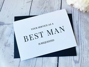Your service as a Best Man Usher Groomsman is required card - Will you be my..