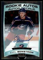 2019-20 OPC Platinum Rookie Auto #R-BE Emil Bemstrom RC - Columbus Blue Jackets