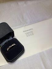 TIFFANY & Co. Platinum 4mm Etoile Diamond Band Ring 10