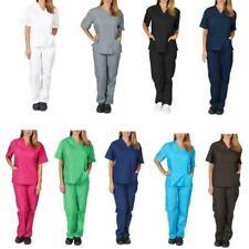 1 Pc Nursing Work Uniform Protective Clothing Nurse Pocket Color Solid H6N2