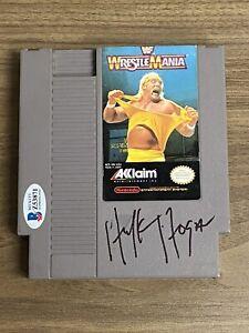 HULK HOGAN signed Wrestlemania NES Nintendo Auto Autograph BAS Beckett