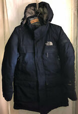 NORTH FACE HYVENT HEAVY PARKA GOOSE DOWN MENS WINTER JACKET HOOD SZ MEDIUM WORN