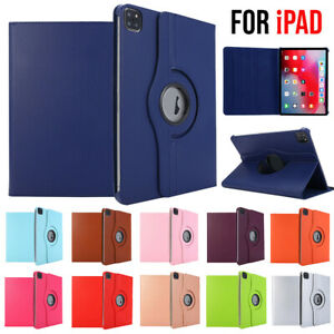 """For iPad Pro 11"""" 12.9"""" 2021 Air 10.9"""" 8th 10.2"""" Flip Leather Rotating Case Cover"""