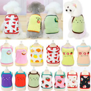 Cute Pet Cat Clothes Summer Puppy T Shirt Clothing Small Dogs Chihuahua Vest Top