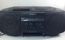 Sony CD/Cassette Radio Boombox Portable Stereo Model CFD-V10 Working! Mega Bass