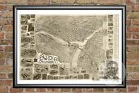 Old Map of Easton, PA from 1900 - Vintage Pennsylvania Art, Historic Decor