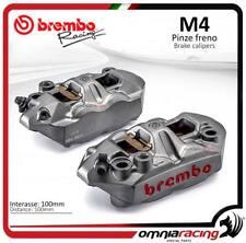 Brembo Racing kit 2 étriers radiaux monoblocs fuse M4 100 emp 100mm SX+DX + plaq