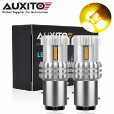 2x AUXITO 1157 BAY15D LED Yellow Amber Turn Signal Light Bulbs Super Bright