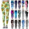 Graphic 3D Printed Women Skinny Stretchy Pencil Pants Yoga Gym Leggings Trousers