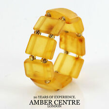 GERMAN BALTIC STYLISH HONEY AMBER HANDMADE ELASTIC RING RB003 RRP £35!!!