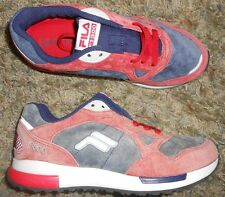 Fila 1300 Lace Up Athletic Shoes Casual Men Size 6 Womens 7 Blue Red Suede