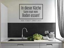 Wandtattoo Sprüche In dieser Küche kann man vom Boden Essen Nr 2 Wand Tattoos