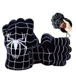Venom NEW! Black Spiderman Hands Kids Boxing Gloves Smash Fists Cosplay Plush