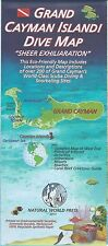 Grand Cayman Island Dive & Snorkel Map Waterproof by Frank Nielsen