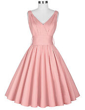 Retro Vintage 50s 60S Wiggle Flared Dress Cocktail Evening Party Swing Dresses