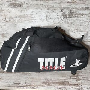 TITLE MMA Boxing Extra Large Black Gym Bag with Extra Large Zipper.