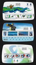 Canada - 3 Souv. Sheets Overprint VANCOUVER 2010 #2299f & #2305f & #2366c - MNH