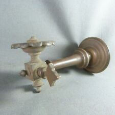 Antique French Copper Gas Burner Wall Light Sconce - c.1900s